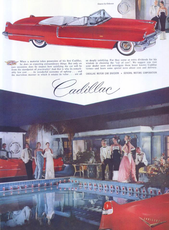 Cadillac Palm Springs Racquet Club Galanos ad 1956