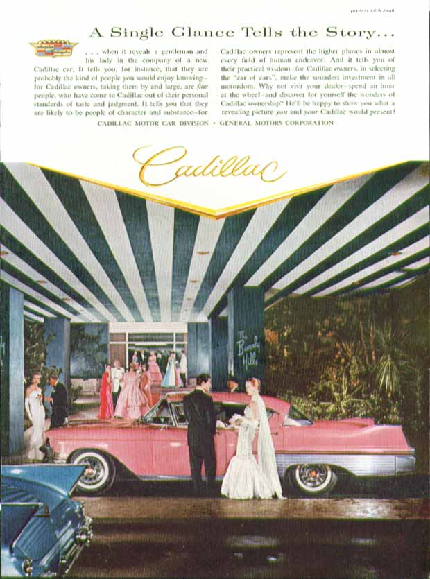 A Single Glance Tells the Story Cadillac 4-door hardtop ad 1957