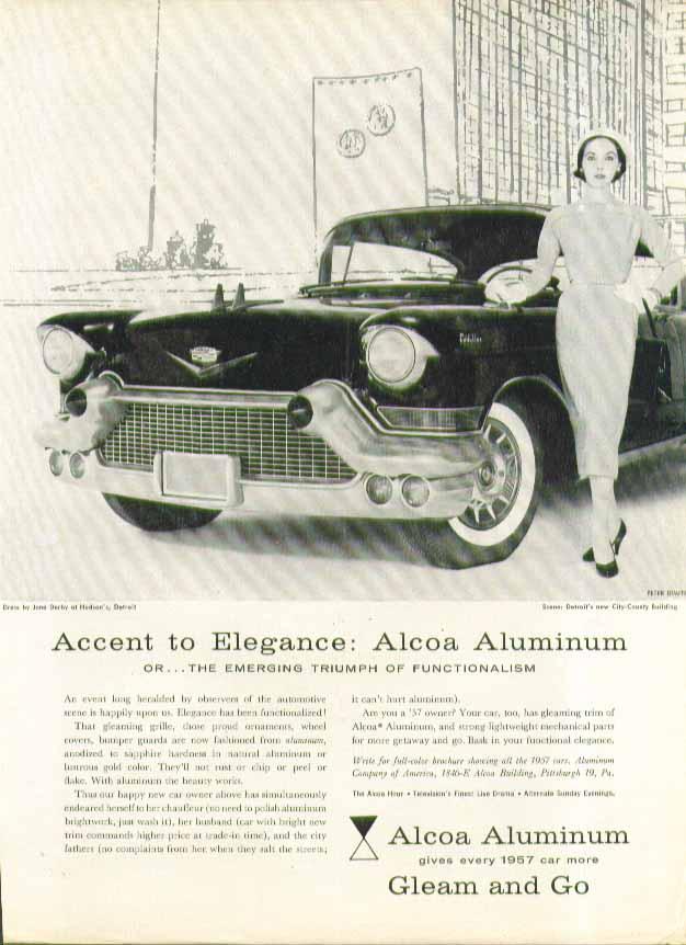 Accent to Elegance Alcoa Aluminum Cadillac ad 1957