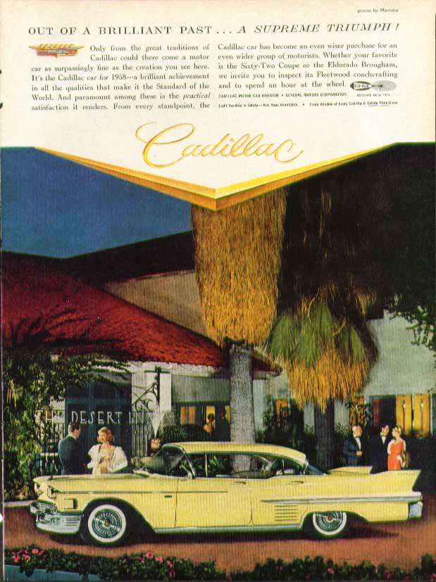 Out of a brilliant past . . A supreme triumph! Cadillac 4-door hardtop ad 1958