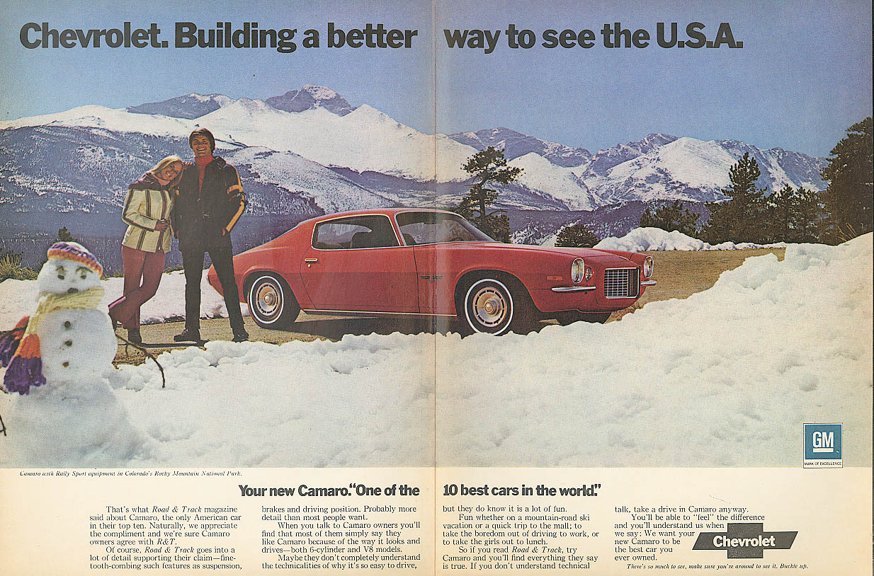 Building a better way to see the U S A Camaro ad 1972