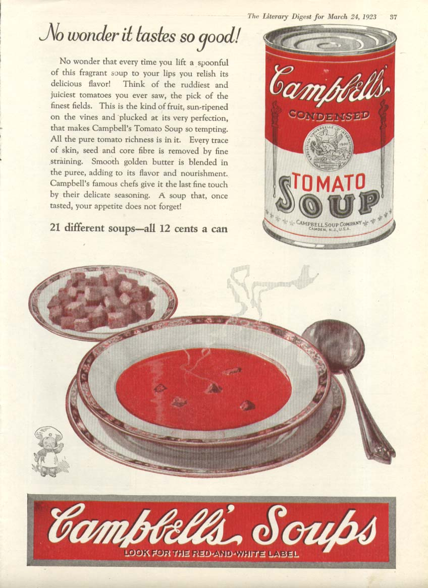 Image for No Wonder Tastes so Good Campbell's Tomato Soup ad 1923