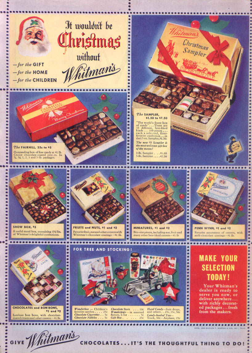 Image for Wouldn't be Christmas without Whitman's Chocolates 1940