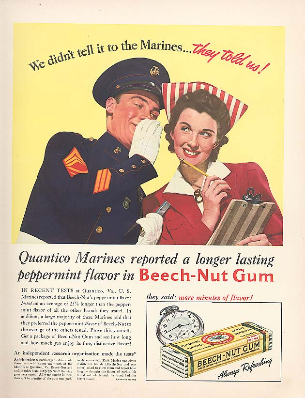 Image for We didn't tell it to the Marines Beech-Nut Gum ad 1941
