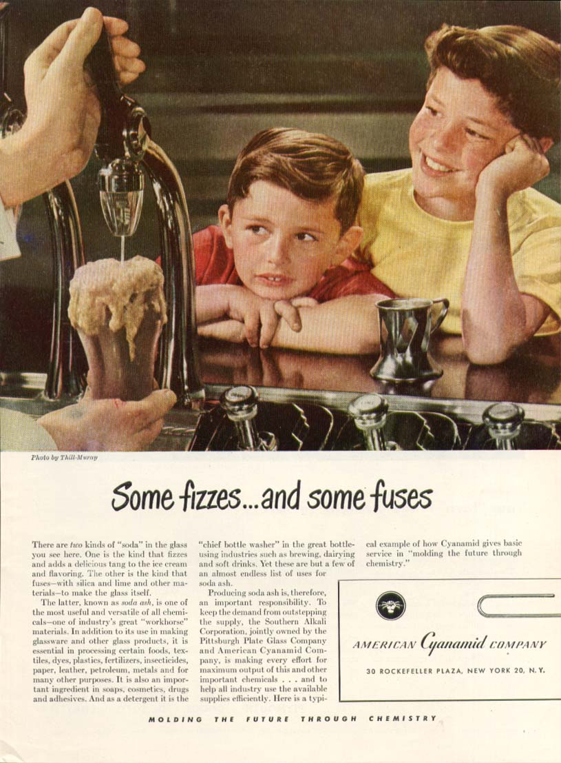 Image for Some fizzes soda fountain American Cyanamid ad 1948