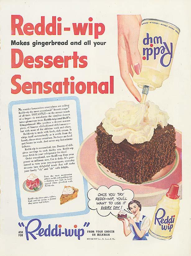 Image for Reddi-wip makes Desserts Sensational ad 1950