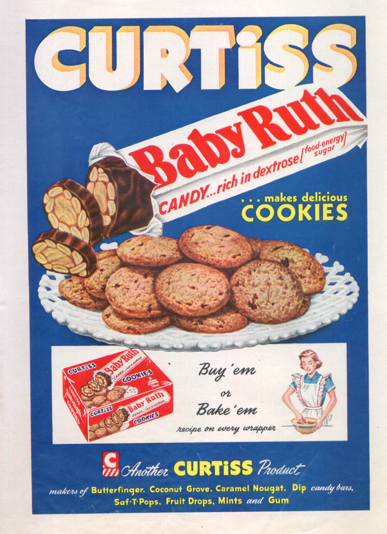 Image for Curtiss Baby Ruth makes delicious cookies ad 1952