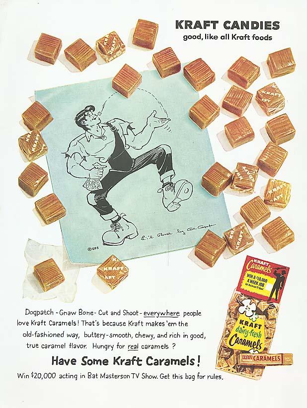 Image for Li'l Abner for Kraft Caramels candy ad 1959