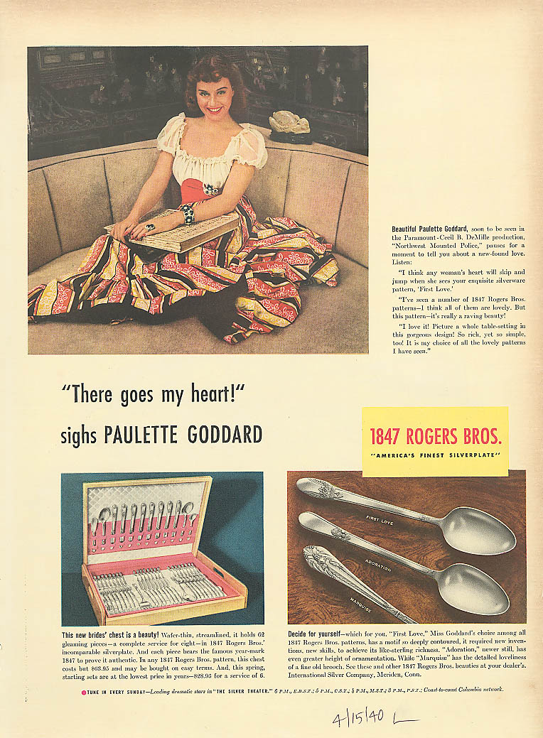 dating rogers silverware In 1899 the company announced its largest profits to date and paid its rogers and westminster china, australia-based marketers of flatware and dinnerware.