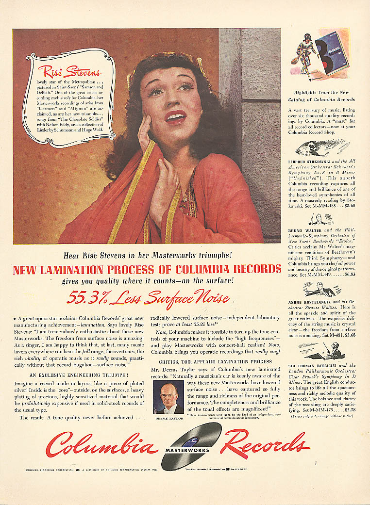 Image for Rise Stevens for Columbia Masterworks Records ad 1942