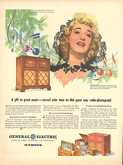 Image for Opera star Rise Stevens for General Electric Radios ad 1945