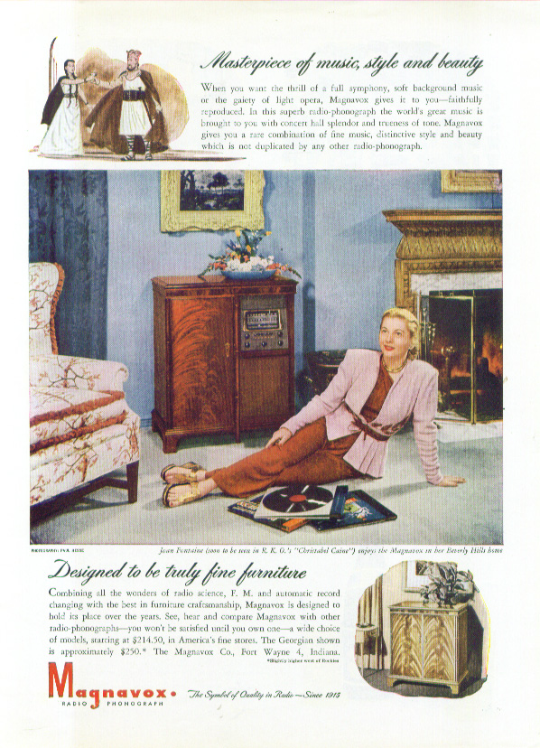 Image for Joan Fontaine for Magnavox Radio Photograph ad 1946
