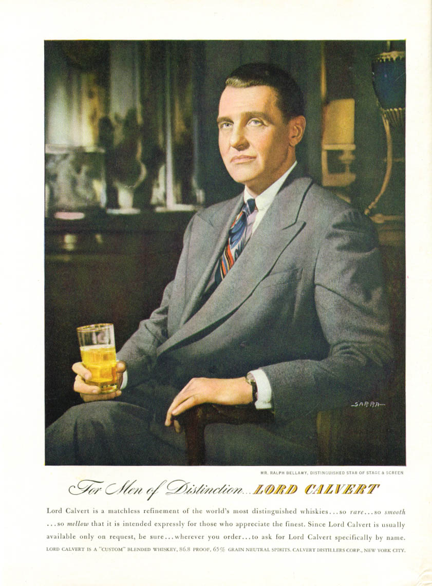 Image for Ralph Bellamy for Lord Calvert Blended Whiskey ad 1947