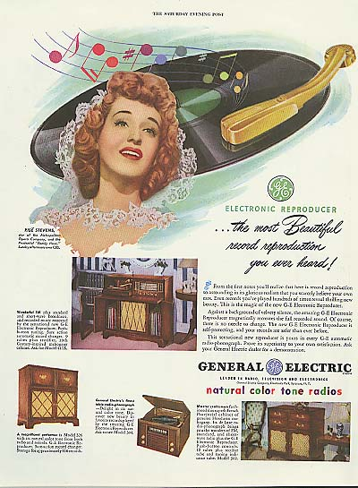 Image for Rise Stevens for General Electric Radios & Photographs ad 1947