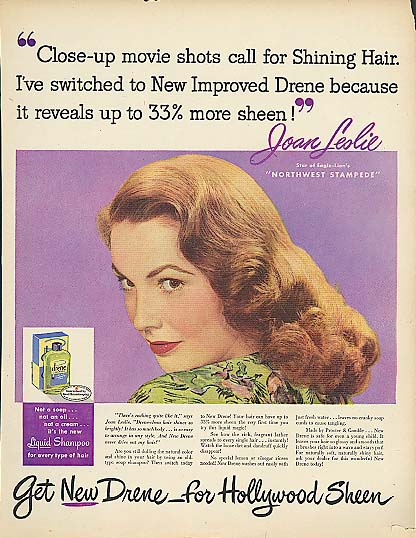 Image for Joan Leslie for Drene Shampoo for Hollywood Sheen ad 1948