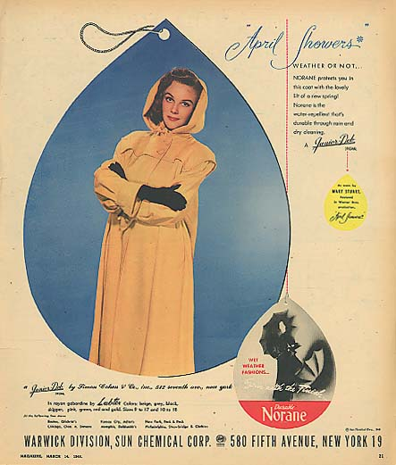 Image for Actress Mary Stuart for Norane April Showers Junior-Deb Raincoat ad 1948