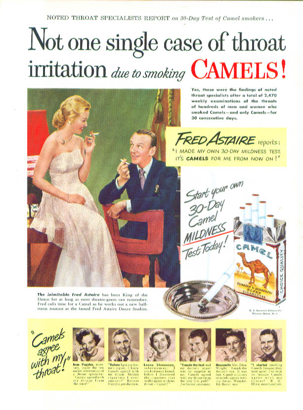 Image for Fred Astaire for Camel Cigarettes ad 1949 Time