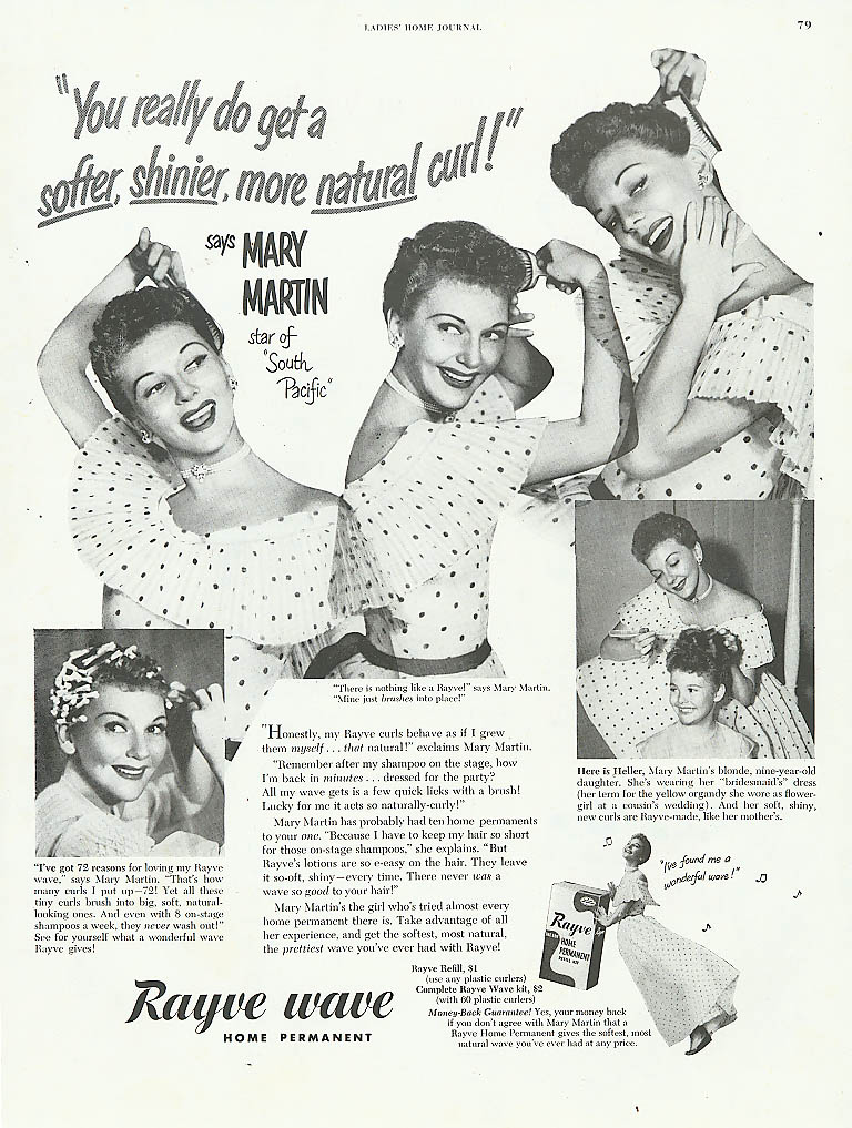 Image for Mary Martin for Rayve Wave Home Permanent ad 1950