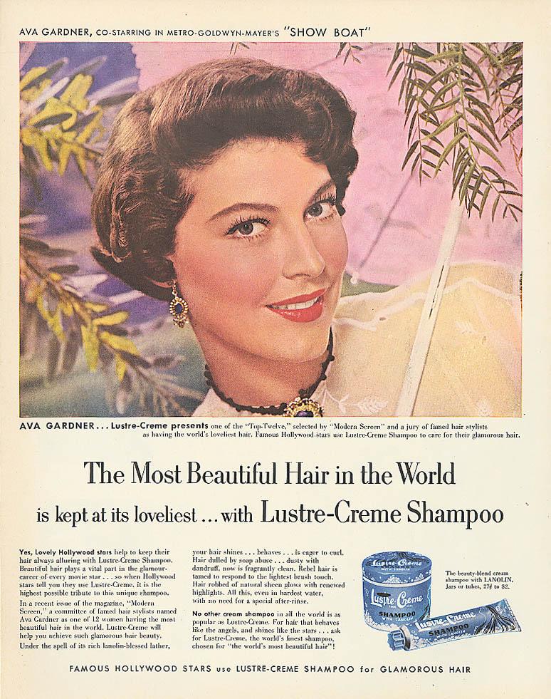 Image for Ava Gardner for Lustre-Crme Shampoo ad 1951