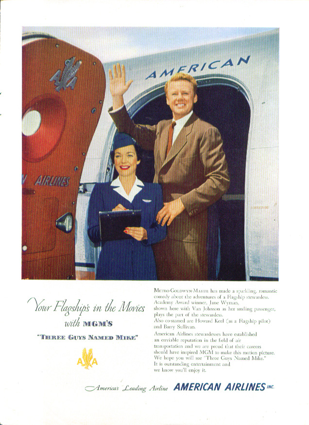 Image for Jane Wyman & Van Johnson for American Airlines ad 1951