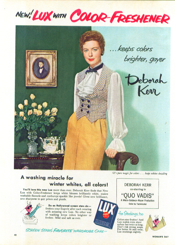 Image for Deborah Kerr for Lux Flakes Color-Freshener ad 1951