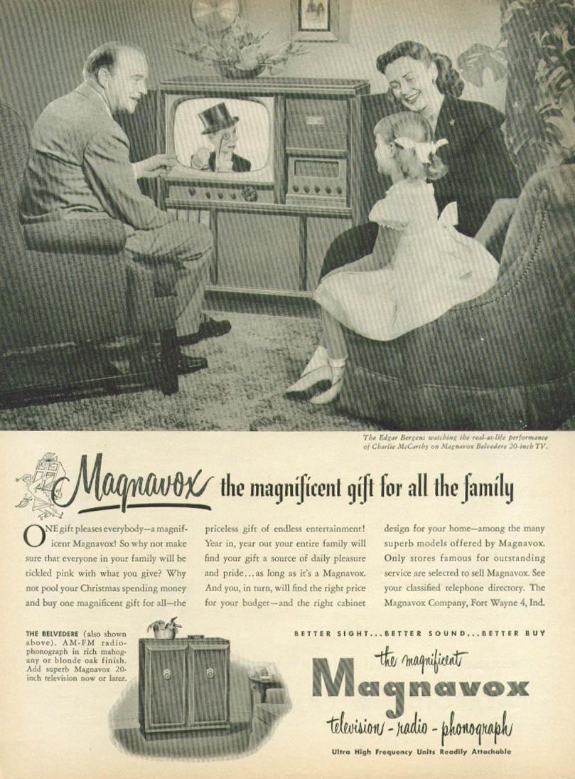 Image for Edgar & Candice Bergen for Magnavox TV ad 1951