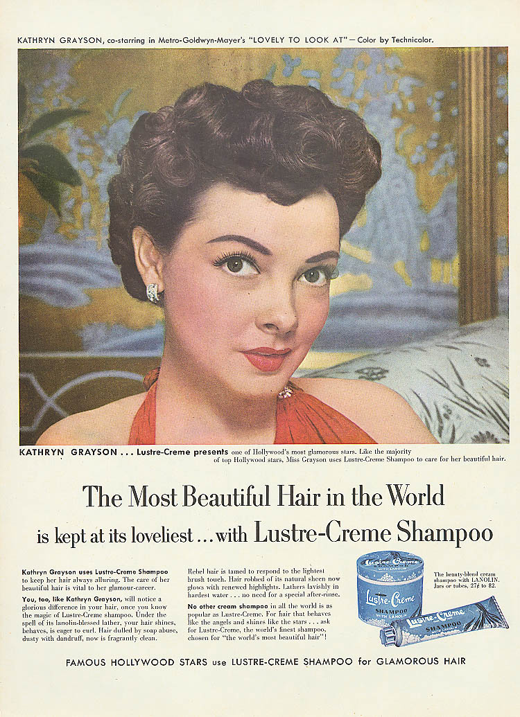Image for Kathryn Grayson for Lustre-Crème Shampoo ad 1952