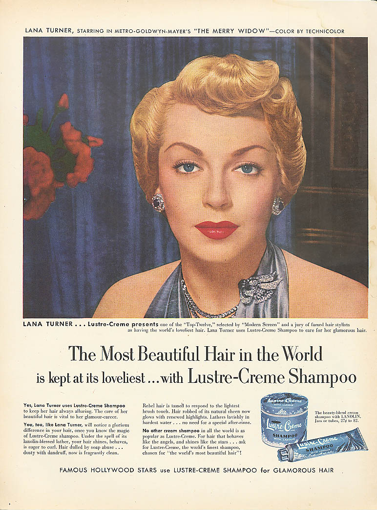 Image for Lana Turner for Lustre-Crème Shampoo ad 1952