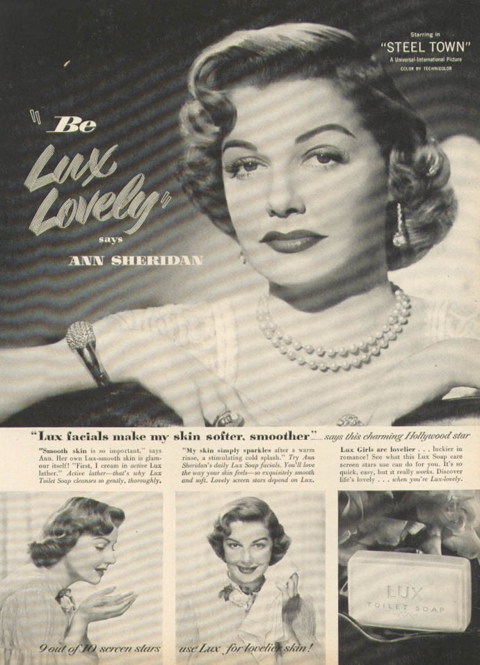 Ann Sheridan for Lux Toilet Soap ad 1952