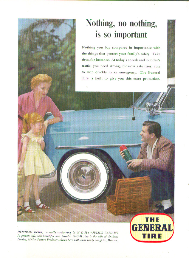 Image for Deborah Kerr & Anthony Bartley for General Tire ad 1953