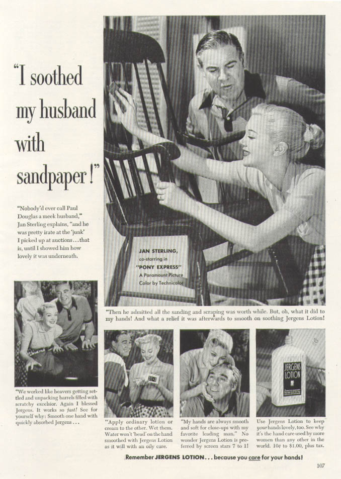 Jan Sterling for Jergens Lotion ad 1953