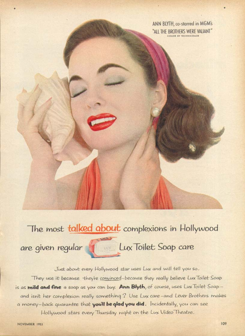 Ann Blyth for Lux Soap ad 1953 Family Circle
