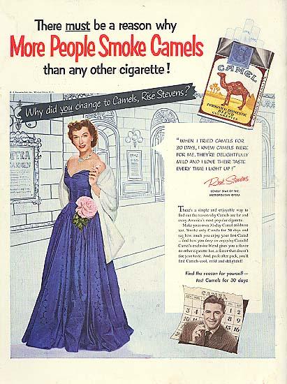 Image for Metropolitan Opera star Rise Stevens for Camel Cigarettes ad 1953