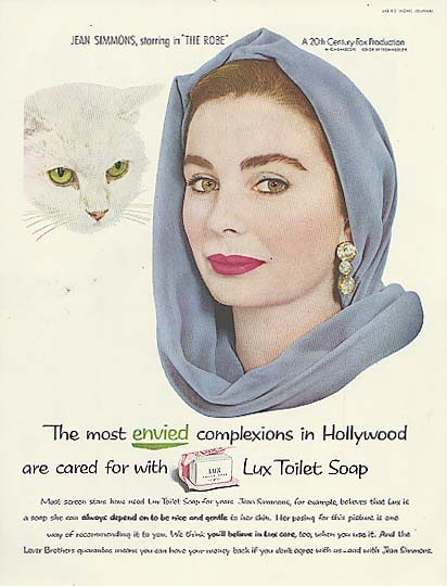 Image for Jean Simmons for Lux Toilet Soap ad 1953