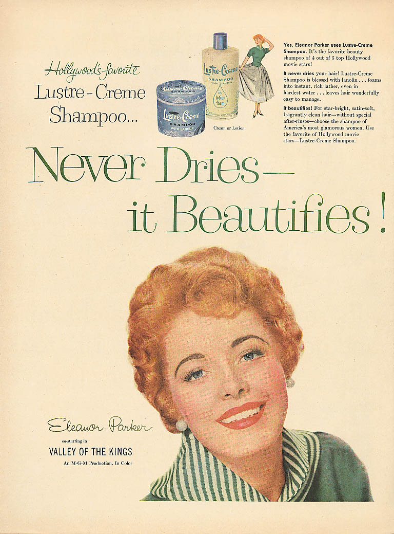 Image for Eleanor Parker for Lustre-Crème Shampoo ad 1954 Life