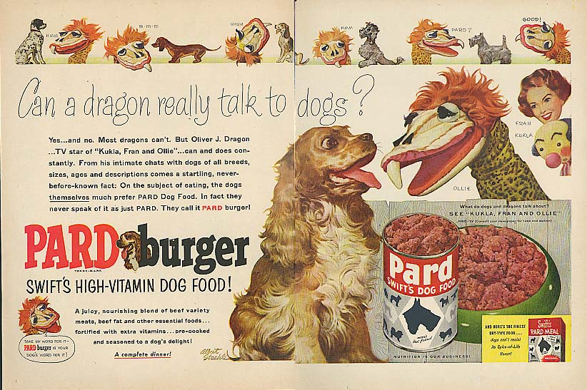 Image for Kukla Fran & Ollie for Swift's Pard Dog Food ad 1954