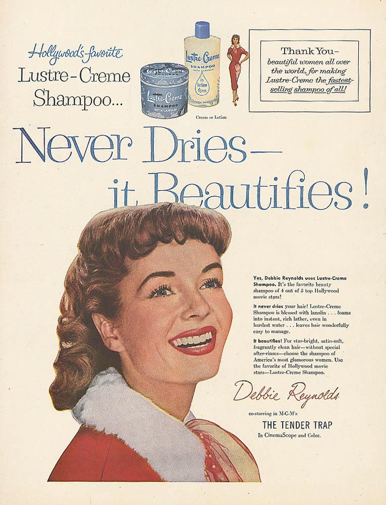 Image for Debbie Reynolds for Lustre-Crme Shampoo ad 1955 Life