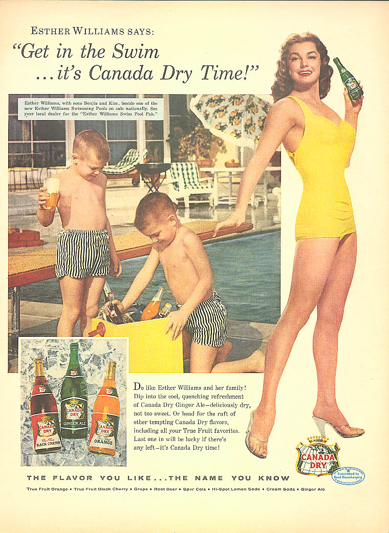 Image for Esther Williams for Canada Dry Ginger Ale ad 1956