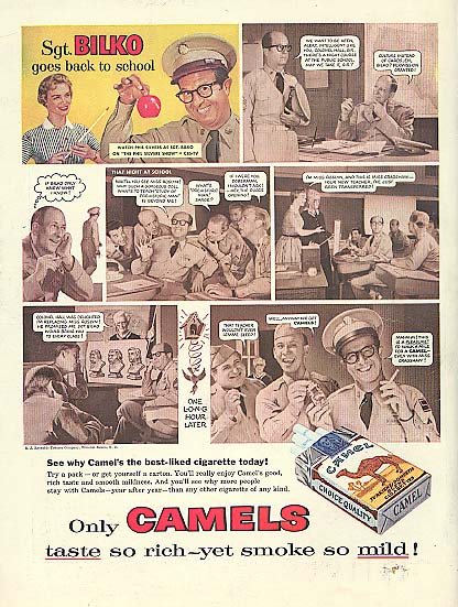 Image for Sgt Bilko Goes Back to School Phil Silvers for Camel Cigarettes ad 1956