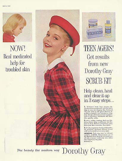 Image for Carol Lynley for Dorothy Gray Scrub Kit for Teenagers ad 1957