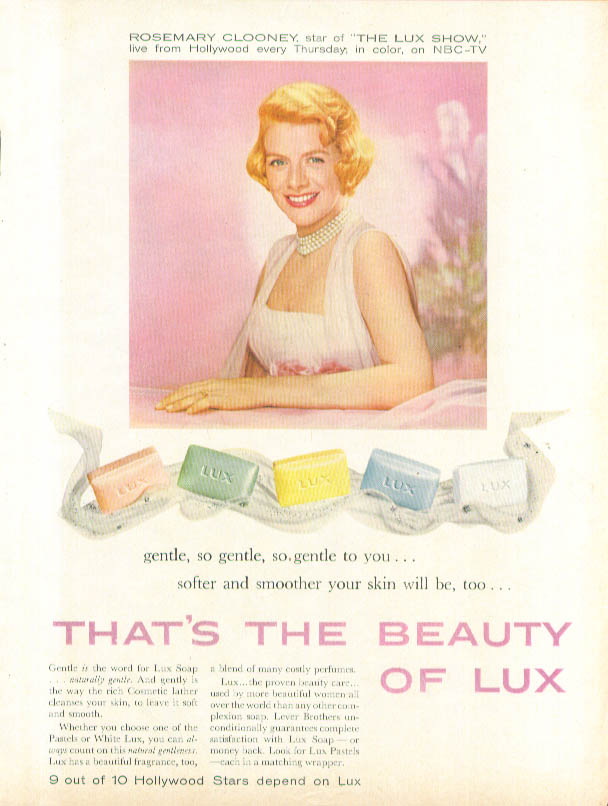Image for Rosemary Clooney for Lux Soap ad 1958 Good Housekeeping