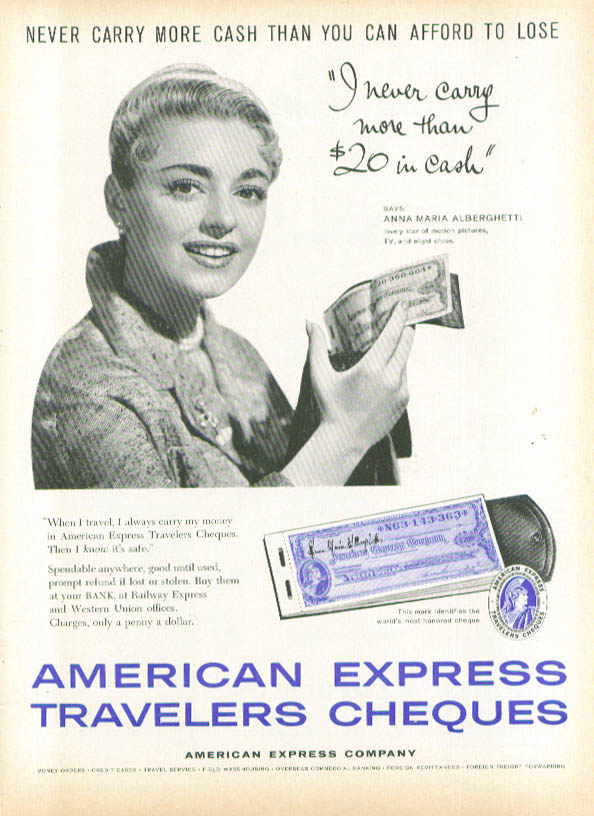 Image for Anna Maria Alberghetti for American Express ad 1959