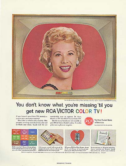 Image for Dinah Shore for RCA Victor Color TV ad 1961