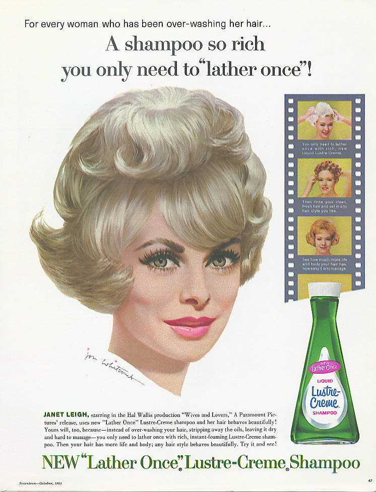 Image for Jenat Leigh for Lustre-Crème Shampoo ad 1963
