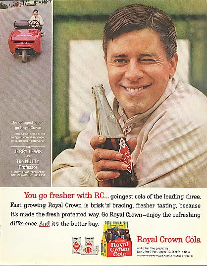 Image for Jerry Lewis for Royal Crown Cola ad 1963