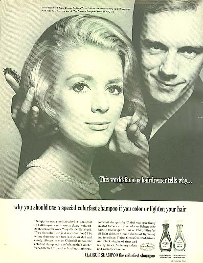 Image for Inger Stevens for Clairol Colorfast Shampoo ad 1964