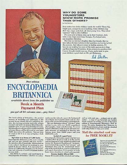Image for Red Skelton for Encyclopedia Britannica ad 1966 Ladies' Home Journal