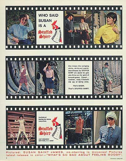Image for Who said Susan Saint James was a Stuffed Shirt? Ad 1968