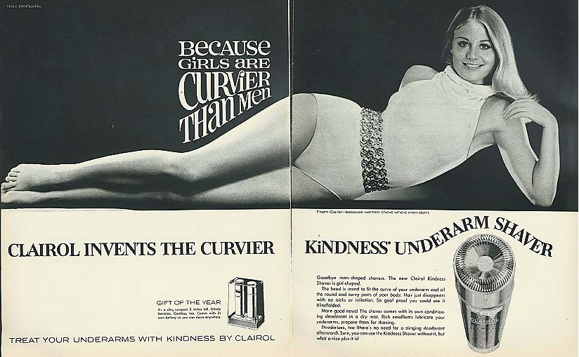 Image for Cybill Shepherd for Clairol Kindness Underarm Shaver ad 1970