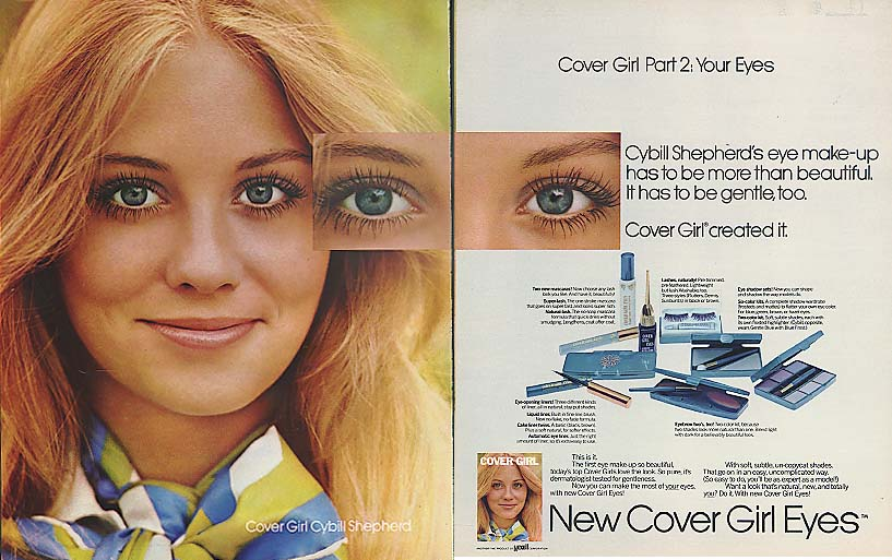 Image for Cybill Shepherd for Cover Girl Part 2: Your Eyes ad 1971